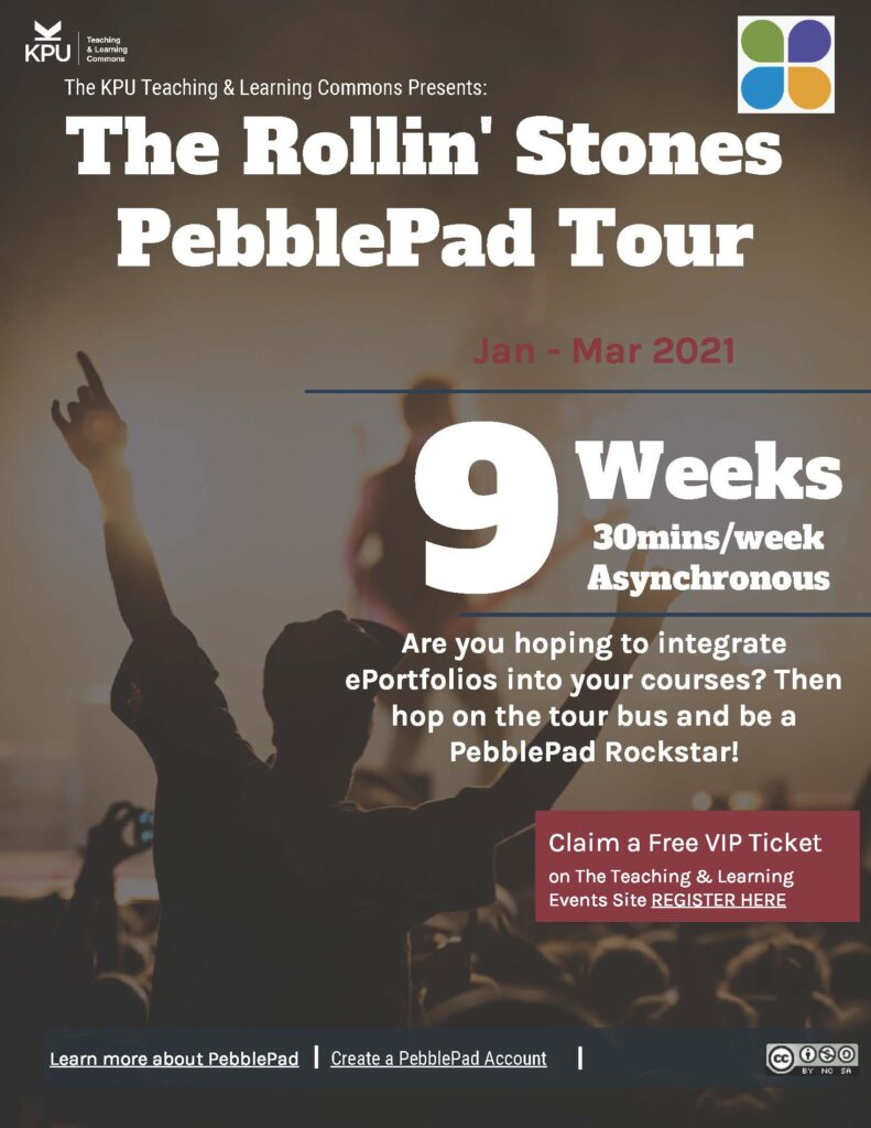 You can't always get what you want, but if you try, sometimes, you might find you get what you need: Reflections on the PebblePad Rollin' Stones Tour